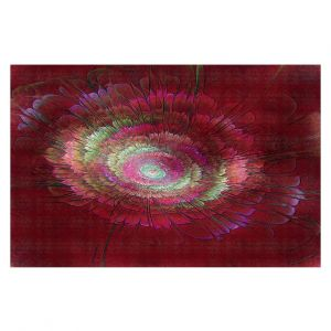 Decorative Floor Covering Mats | Pam Amos - Dust Red Floral | Galaxy space pattern circle swirl