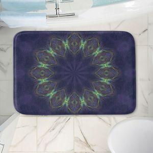 Decorative Bathroom Mats | Pam Amos - Electric Vibes Purple | Circular mandala shapes geometric
