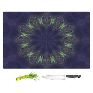 Artistic Kitchen Bar Cutting Boards | Pam Amos - Electric Vibes Purple | Circular mandala shapes geometric