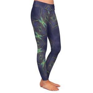 Casual Comfortable Leggings   Pam Amos - Electric Vibes Purple   Circular mandala shapes geometric