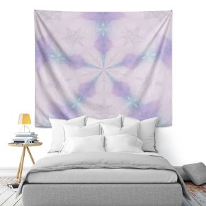 Artistic Wall Tapestry | Pam Amos - Emerald Opal | Geometric pattern repetition
