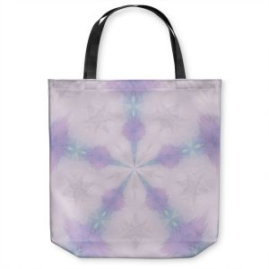 Unique Shoulder Bag Tote Bags | Pam Amos - Emerald Opal | Geometric pattern repetition