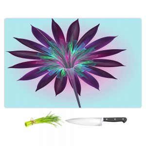 Artistic Kitchen Bar Cutting Boards | Pam Amos - Floral Bliss Blues | Flower graphic