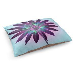 Decorative Dog Pet Beds | Pam Amos - Floral Bliss Blues | Flower graphic