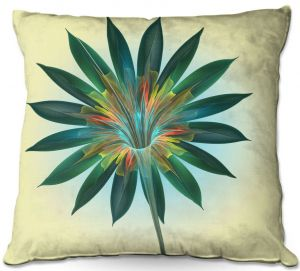 Decorative Outdoor Patio Pillow Cushion | Pam Amos - Floral Bliss | Flower graphic