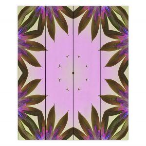 Decorative Wood Plank Wall Art | Pam Amos - Floral Bliss Pinks 2 | Nature floral spiritual geometric