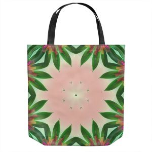 Unique Shoulder Bag Tote Bags | Pam Amos - Floral Bliss Pinks 3 | Nature floral spiritual geometric