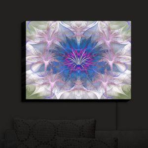 Nightlight Sconce Canvas Light   Pam Amos - Floral Dance Pink Blue