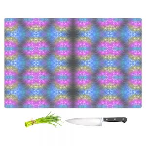 Artistic Kitchen Bar Cutting Boards | Pam Amos - Floral Pattern Lines | Abstract flower repetition