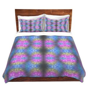Artistic Duvet Covers and Shams Bedding | Pam Amos - Floral Pattern Lines | Abstract flower repetition
