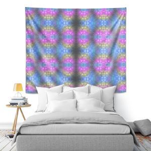 Artistic Wall Tapestry | Pam Amos - Floral Pattern Lines | Abstract flower repetition