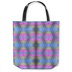 Unique Shoulder Bag Tote Bags | Pam Amos - Floral Pattern Lines | Abstract flower repetition