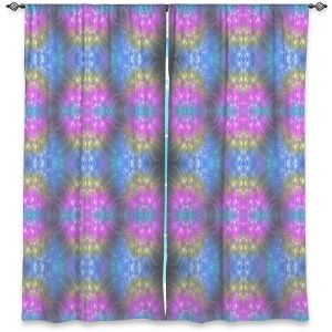Decorative Window Treatments   Pam Amos - Floral Pattern Lines   Abstract flower repetition