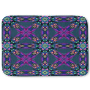 Decorative Bathroom Mats | Pam Amos - Floral Quilt | pattern flower repetition