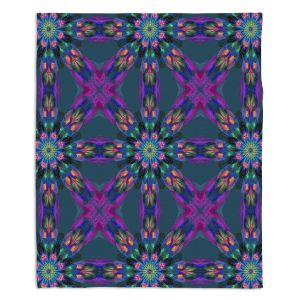 Artistic Sherpa Pile Blankets | Pam Amos - Floral Quilt | pattern flower repetition