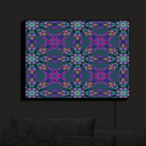 Nightlight Sconce Canvas Light | Pam Amos - Floral Quilt | pattern flower repetition