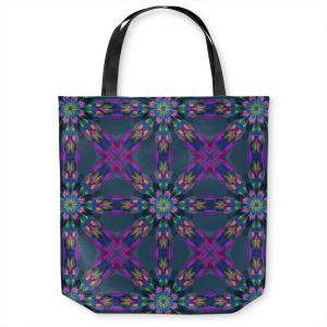 Unique Shoulder Bag Tote Bags | Pam Amos - Floral Quilt | pattern flower repetition