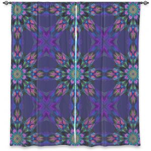 Decorative Window Treatments | Pam Amos - Floral Quilt Violet | pattern flower repetition