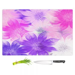 Artistic Kitchen Bar Cutting Boards | Pam Amos - Flower Bunch Pinks | pattern digital flowers