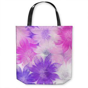 Unique Shoulder Bag Tote Bags | Pam Amos - Flower Bunch Pinks | pattern digital flowers