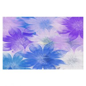 Decorative Floor Covering Mats | Pam Amos - Flower Bunch Purples | pattern digital flowers