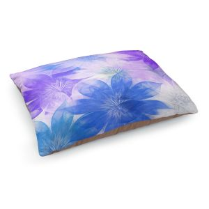 Decorative Dog Pet Beds | Pam Amos - Flower Bunch Purples | pattern digital flowers