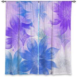 Decorative Window Treatments | Pam Amos - Flower Bunch Purples | pattern digital flowers