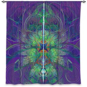 Decorative Window Treatments | Pam Amos - Flower Web Royal | abstract symmetry floral