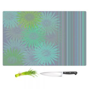 Artistic Kitchen Bar Cutting Boards | Pam Amos - Flower Show Greens | digital flower pattern