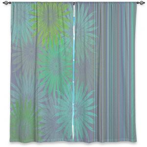 Decorative Window Treatments | Pam Amos - Flower Show Greens | digital flower pattern