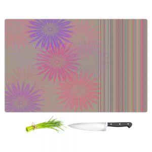 Artistic Kitchen Bar Cutting Boards | Pam Amos - Flower Show Pinks | digital flower pattern