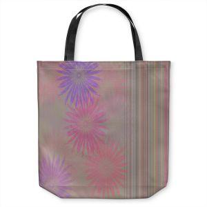 Unique Shoulder Bag Tote Bags | Pam Amos - Flower Show Pinks | digital flower pattern