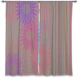 Decorative Window Treatments   Pam Amos - Flower Show Pinks   digital flower pattern