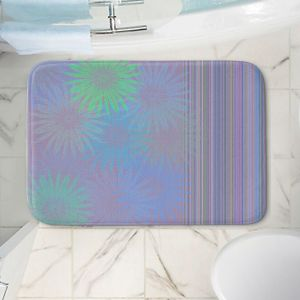 Decorative Bathroom Mats | Pam Amos - Flower Show Purples | digital flower pattern