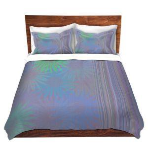 Artistic Duvet Covers and Shams Bedding | Pam Amos - Flower Show Purples | digital flower pattern