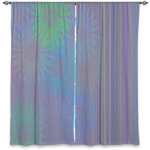 Decorative Window Treatments | Pam Amos - Flower Show Purples | digital flower pattern