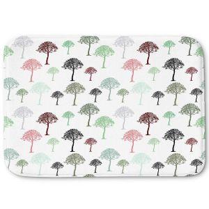 Decorative Bathroom Mats | Pam Amos - Forest | Trees pattern
