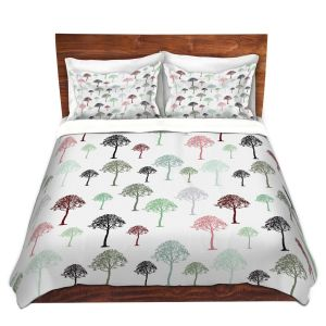 Artistic Duvet Covers and Shams Bedding | Pam Amos - Forest | Trees pattern