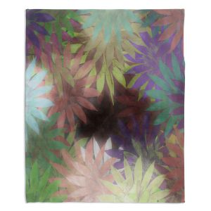 Decorative Fleece Throw Blankets | Pam Amos - Forest Flowers 2 | Floral pattern abstract