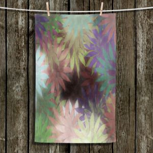 Unique Bathroom Towels | Pam Amos - Forest Flowers 2 | Floral pattern abstract