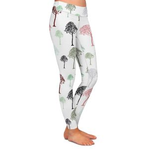 Casual Comfortable Leggings | Pam Amos - Forest | Trees pattern