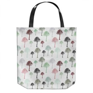 Unique Shoulder Bag Tote Bags | Pam Amos - Forest | Trees pattern