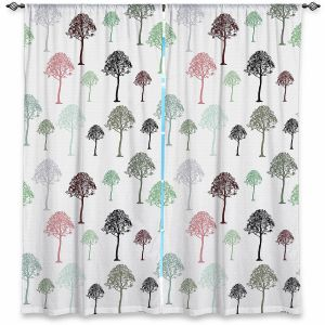 Decorative Window Treatments | Pam Amos - Forest | Trees pattern