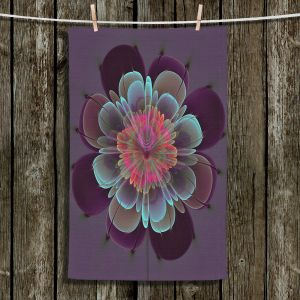 Unique Bathroom Towels   Pam Amos - Ghost Flower Beet Purple   digital flower nature