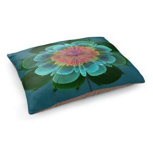 Decorative Dog Pet Beds | Pam Amos - Ghost Flower Clover | digital flower nature