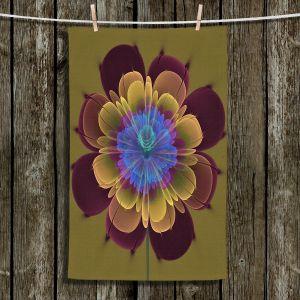 Unique Bathroom Towels   Pam Amos - Ghost Flower Red Olive   digital flower nature