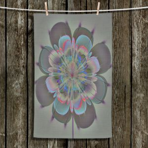 Unique Bathroom Towels | Pam Amos - Ghost Flower Spritz | digital flower nature