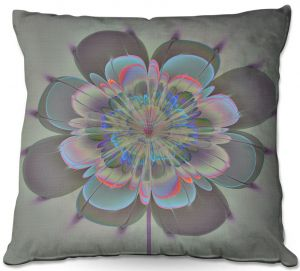 Decorative Outdoor Patio Pillow Cushion | Pam Amos - Ghost Flower Spritz | digital flower nature