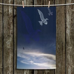 Unique Hanging Tea Towels | Pam Amos - Going Home | Sea Bird Cloudy Sky