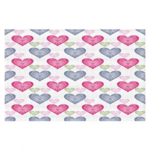 Decorative Floor Covering Mats | Pam Amos - Hearts in a Row | love pattern